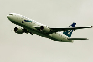 The Air New Zealand Boeing 777-300 had to turn back when the pilot became unwell. Photo / NZ Herald