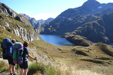 Trampers can share DOC huts on the Routeburn Track or stay in luxury. Photo / Supplied