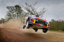 Citroen rally driver Mikko Hirvonen in Argentina. Photo / Supplied