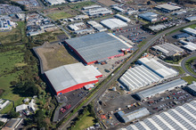 The Warehouse's North Island distribution centre property covers 21.7ha in Wiri, South Auckland. Photo / Supplied