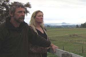 Farmers, Geoff and Karen Turner stand vigil after deer were killed on their property. Photo / Bay of Plenty Times