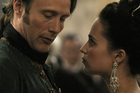 Mads Mikkelsen and co-star Alicia Vikander in A Royal Affair. Photo / Supplied