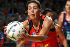 Goal shoot Irene van Dyk shot an incredible 41 goals from 42 attempts. Photo / Getty Images.