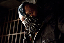 Tom Hardy's Bane is the villain in the new Batman film. Photo / Supplied