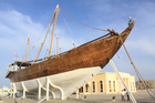 This 150-year-old dhow, which was built in Sur and traded around the world, now rests in front of the city's new museum. Photo / Jim Eagles