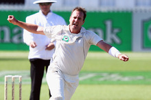 Mark Gillespie took 11 wickets against South Africa in the final two tests but admits he regularly plays in a great deal of pain. Photo / Getty Images