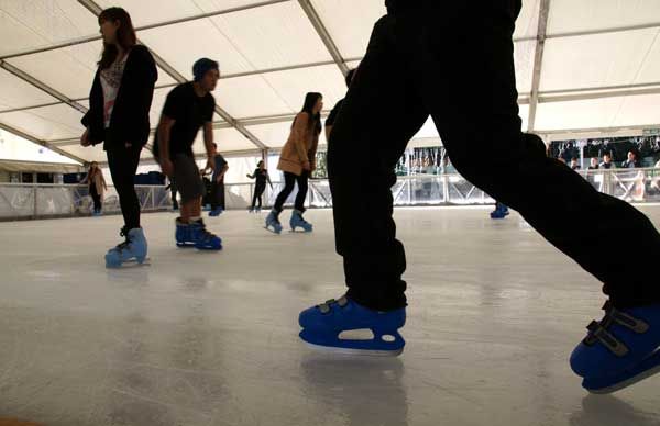 Ice Rink in Aotea Square is open for business.