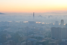 The city of Pyongyang is seen shrouded in morning mist. Photo / Thinkstock