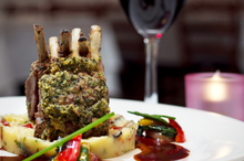 The lamb rack at Andres Restaurant. Photo / Natalie Slade