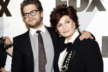 Sharon Osbourne and her son Jack, who has been diagnosed with multiple sclerosis. Photo / AP