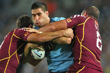 James Tamou in action for New South Wales. Photo / Getty Images