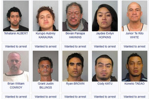 Some of the 31 people already uploaded to the new police 'wanted' website. Photo / NZ Police