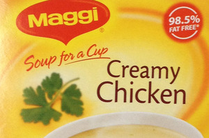 Maggi Soup for a Cup Creamy Chicken. $2.55 for four packets.