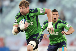 Adam Thomson leads the way for the Highlanders' tryscorers this year. Photo / Getty Images
