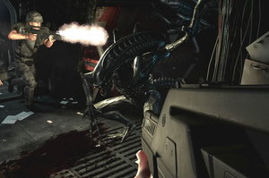 Players must combat xenomorphs and conquer fear in 'Alien: Colonial Marines.' Photo / Supplies