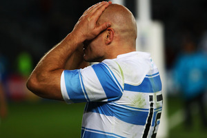 The French victory ruined Felipe Contepomi's last game as captain of the Pumas, after he announced on Friday he was stepping down from the role. Photo / Getty Images.