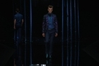 A chrysalis transformed into a butterfly. A nod to the butterfly cage installed for the fashion show, Daniele Cavalli, Roberto Cavalli's son, now stands on his own two feet and alone provides the menswear collections.