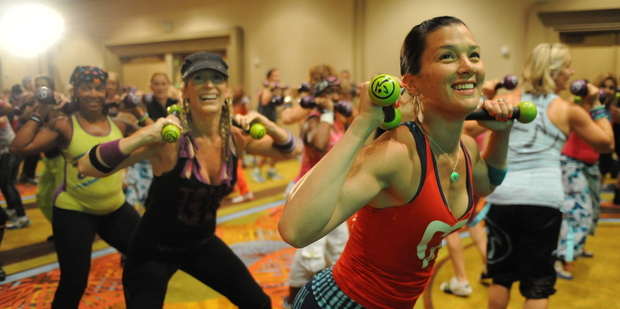 Zumba combines a range of Latin American dance styles - with some Macarena moves thrown in for good measure. Photo / Supplied