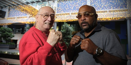 Stan Hoffman (left) and Buddy McGirt are two of the most colourful - and experienced - men in boxing. Photo / Jason Dorday