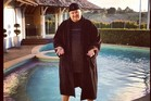 Kim Dotcom, seen here during the pool party, was a hospitable host.  Photo / Supplied