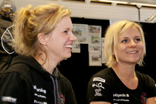 Miriam Walfridsson and co-driver Ramona Karlsson tell of their narrow escape. Photo / Malcolm Pullman
