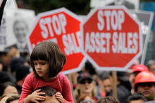 Russel Norman is claiming the CIR petition to stop asset sales already has 100,000 of the 310,000 signatures required after only a couple of months. Photo / NZ Herald
