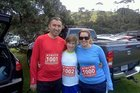 Belinda Wren (right) with husband Richard and daughter Kaylin before the event last year.