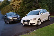 The Peugeot 4008 and the Audi A1. Photo / David Linklater