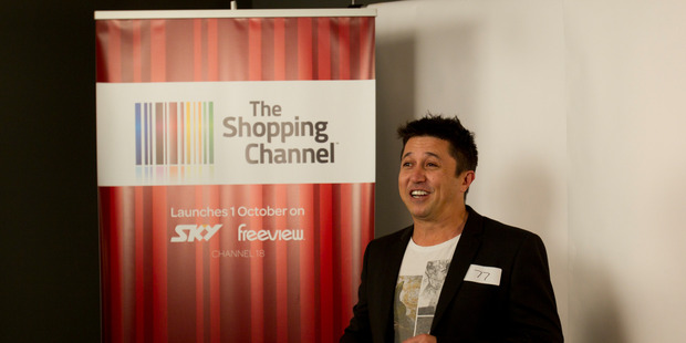 Mike Puru auditions for the Shopping Channel. Photo / Kellie Blizard