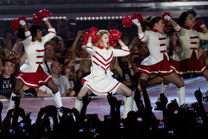 Madonna kicked off her world tour in Israel. Photo / AP