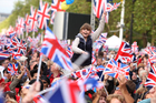 Pomp and ceremony are helping to keep Britons at home. Photo / AP
