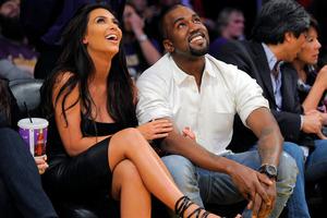 Kim Kardashian and Kanye West . Photo / AP