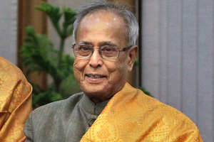 Indian Finance Minister Pranab Mukherjee. Photo / AP