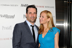 Actor Jon Hamm and his girlfriend actress Jennifer Westfeldt. Photo / AP