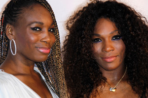 Sister's Venus, and Serena Williams. Photo / AP