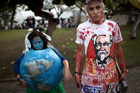 Environmental activists in Rio de Janeiro had high hopes for the summit. Photo / AP