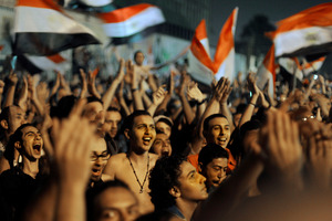 Egyptians celebrate the victory of Mohammed Morsi in the presidential elections. Photo / AP