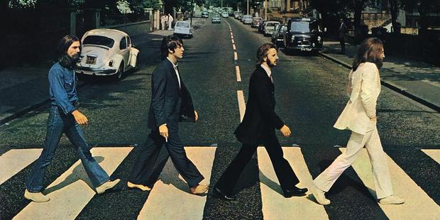 London's Abbey Road is home to one of the world's most famous studios - and pedestrian crossings, pictured on the Beatles' album, named, fittingly, Abbey Road. Photo / Supplied