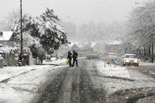 Snow and ice have caused several roads to be closed around the country. Photo / Christchurch Star