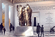 An artist's impression of the Bomber Command Memorial to be erected in London. Photo / AP