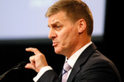 Finance Minister Bill English told farmers today not to become paralysed by problems in offshore economies. Photo / Mark Mitchell