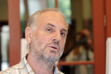 Dr Philip Nitschke was held at Auckland International Airport until 2am.  Photo / File