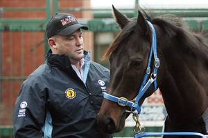 Trainer Peter Moody with Black Caviar. Photo / AP