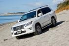 The Lexus LX570 (above) and Land Cruiser 200 and have some identical features, but any differences are usually in the Lexus's favour. Photo / Supplied