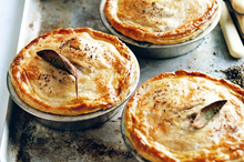 Pork, apple and cider pies. Photo / Chris Court