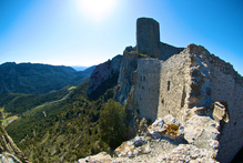 Hire a car in France and you'll have more freedom to explore Cathar castles, such as Peyrepertuse in the Pyrenees. Photo / Creative Commons image by Flickr user Jon Jackson