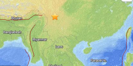 The earthquake struck the border of Sichuan and Yunnan provinces. Photo / UGS
