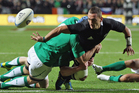 Aaron Cruden set up three tries during just 23 minutes of play. Photo / Getty Images