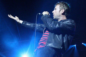 Damon Albarn is debuting new songs with Blur.  Photo / Natalie Slade