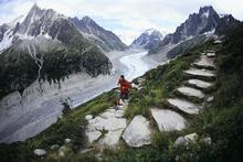Ultramarathon runner, Dean Karnazes, in action. Photo / Supplied